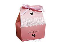 Бонбоньєрки для весілля рожеві