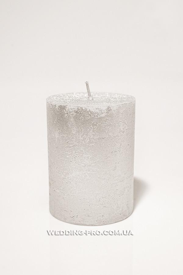 Свеча с серебристым напылением, 59 грн.