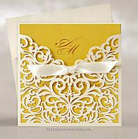 Роскошные свадебные пригласительные с королевским узором, золото, фото 1
