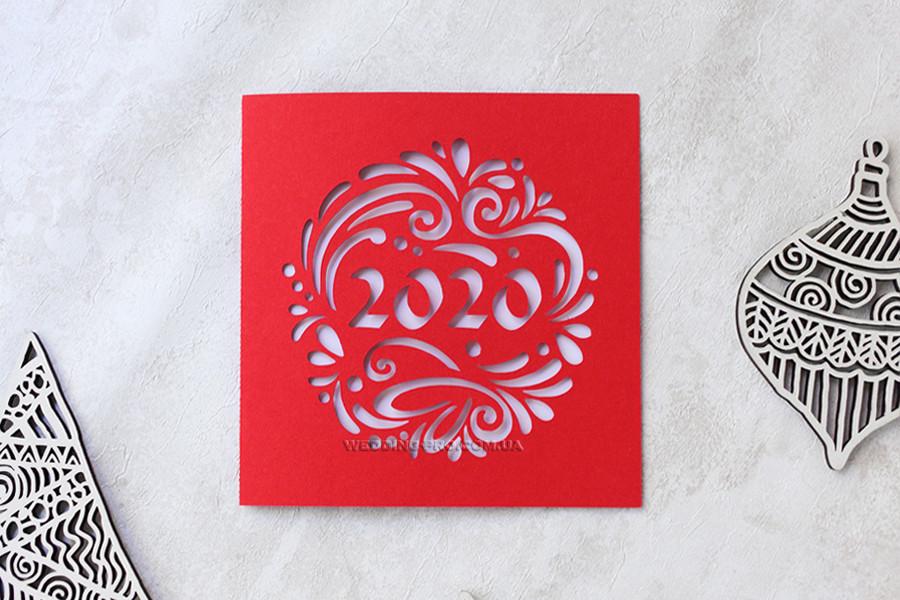 Новогодние открытки с логотипом 2020