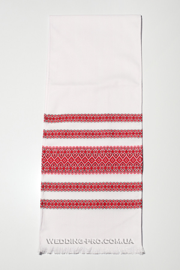 Весільний тканий рушник для перев'язування рук і під ікони
