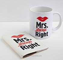 """Набор """"Миссис """" чашка и обложка на паспорт, 350 грн."""