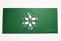 "Открытка ""Снежинка"" с логотипом, фото 1"