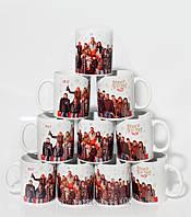 Чашки з індивідуальною фотографією і логотипом компанії