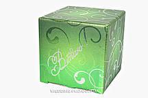"""Подарункова упаковка з написом """"Вітаю"""", колір-зелений м"""