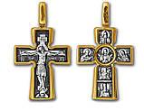 """Крест серебряный Распятие. Божия Матерь """"Воплощение"""". Пять святителей 039, фото 2"""