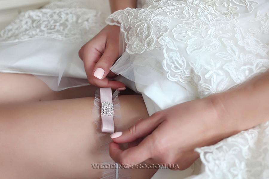 """Подвязка для невесты """"Lite grey"""""""