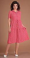 Платье Мода-Юрс-2479/1 белорусский трикотаж, красный, 46, фото 1