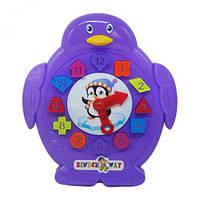 """Сортер-часики """"Пингвин"""" фиолетовый  KW-40-002 ( TC128352)"""