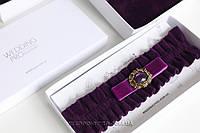"Подвязка ""Винтаж"" фиолетовая"