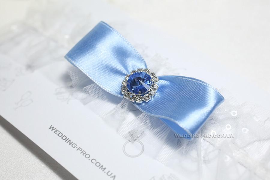 """Голубая подвязка """"Мерцание"""""""