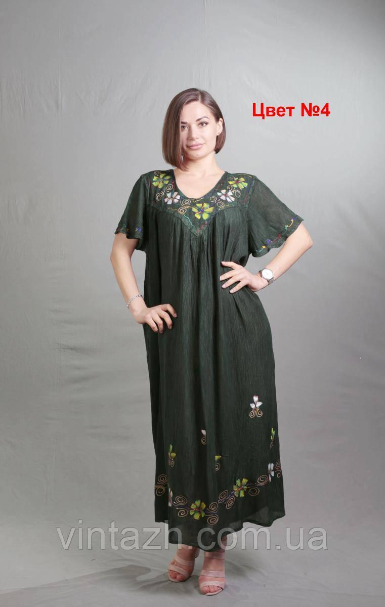Летнее женское платье свободного кроя  размер 60-64 недорого