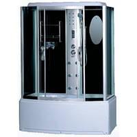 Гидробокс GM-6412 145x85x220 глубокий поддон, тонированное стекло