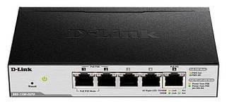 Коммутатор D-Link DGS-1100-05PD 5x1GE, (2xGE, 2xGE PoE, 1xGE PD), EasySmart