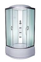 Душевой бокс 90x90 Vivia 95 95-RC-W глубокий поддон, матовое стекло