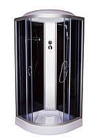 Гидромассажный бокс 90х90 Vivia 61 PR BF низкий поддон, тонированное стекло