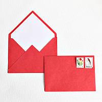 Конверт крафт красный, фото 1