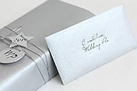 Конверт крафт мини серебро, фото 1
