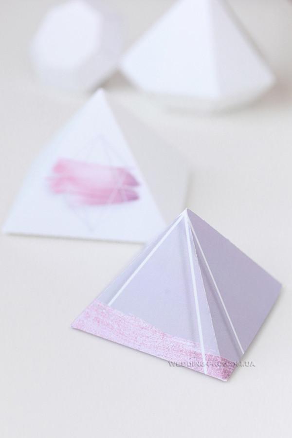 """Бонбоньерки """"Пирамида"""" с печатью"""