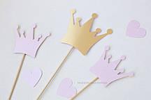 "Топпер ""Принцесса"" 3 шт розовый"