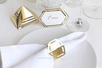 "Кольцо для салфетки ""Геометрия 2"" золото, фото 1"