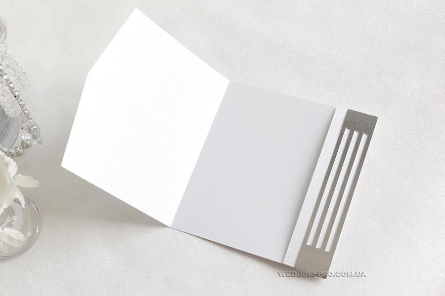 """Конверт """"Геометрия"""" белый с серебром"""