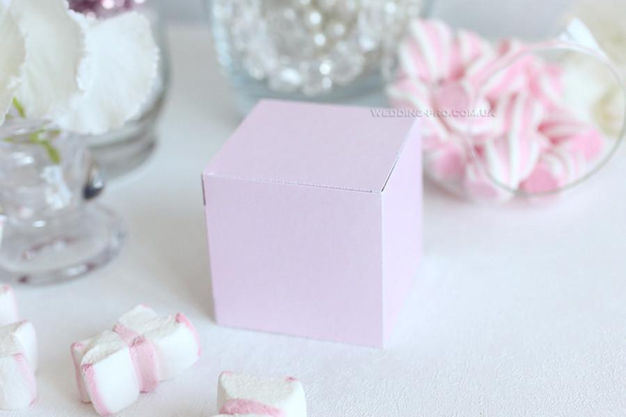 """Коробка """"Куб"""" розовый перламутр"""