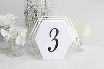 """Номер на стіл """"Геометрія"""" срібло"""