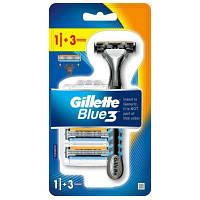 Бритва Gillette Blue3 с 3 сменными касетами (7702018464104)