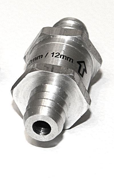 Обратный клапан 12 мм. Топливный Жидкостный Евростандарт.