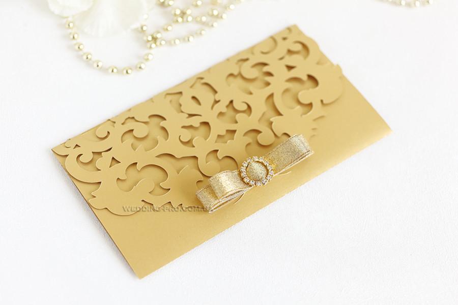 """Подарункові сертифікати """"Версаль"""" золото з брошкою"""