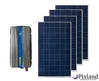 Комплект солнечной системы для дома  1 кВт
