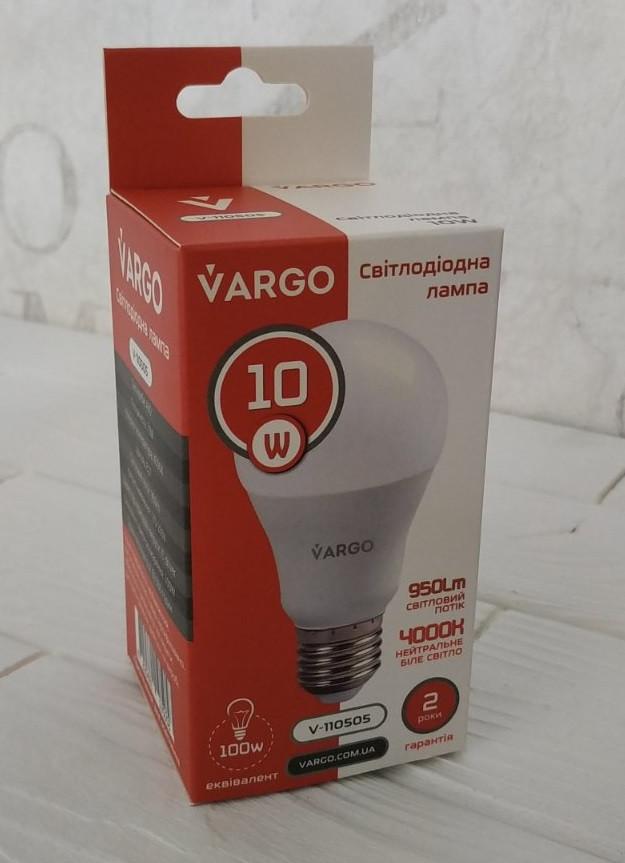 Лампа светодиодная Vargo A60 10W  Е27 V-110505