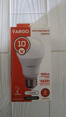 Лампа светодиодная Vargo A60 10W  Е27 V-110505, фото 2