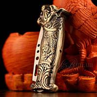 Зажигалка нож выкидной с головой дракона ZG218410, фото 1
