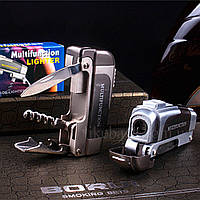Зажигалка ножик, открывашка, штопор ZG4063, фото 1