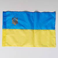 Флаг Украины , прапор України , с гербом , полиэстер , 60×40 см.