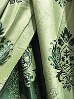 Щільна шторна тканина льон з візерунком двостороння, висота 2.8 м на метраж (M11), фото 6