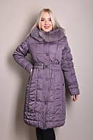 Зимнее пальто с капюшюном р 46