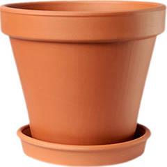 Горшок для растения ТЕРРА Гладкий 19 х 21 см Коричневый 000001400, КОД: 358388