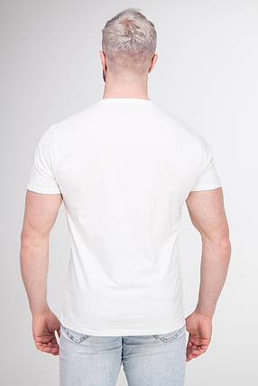 Футболка мужская однотонная белая из хлопка BR-S р. L (1192767059), фото 2