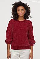 Свитер женский H&M бордовый, фото 1
