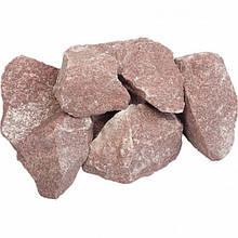 Камни для бани малиновый кварцит Украина 20 кг (колотый)