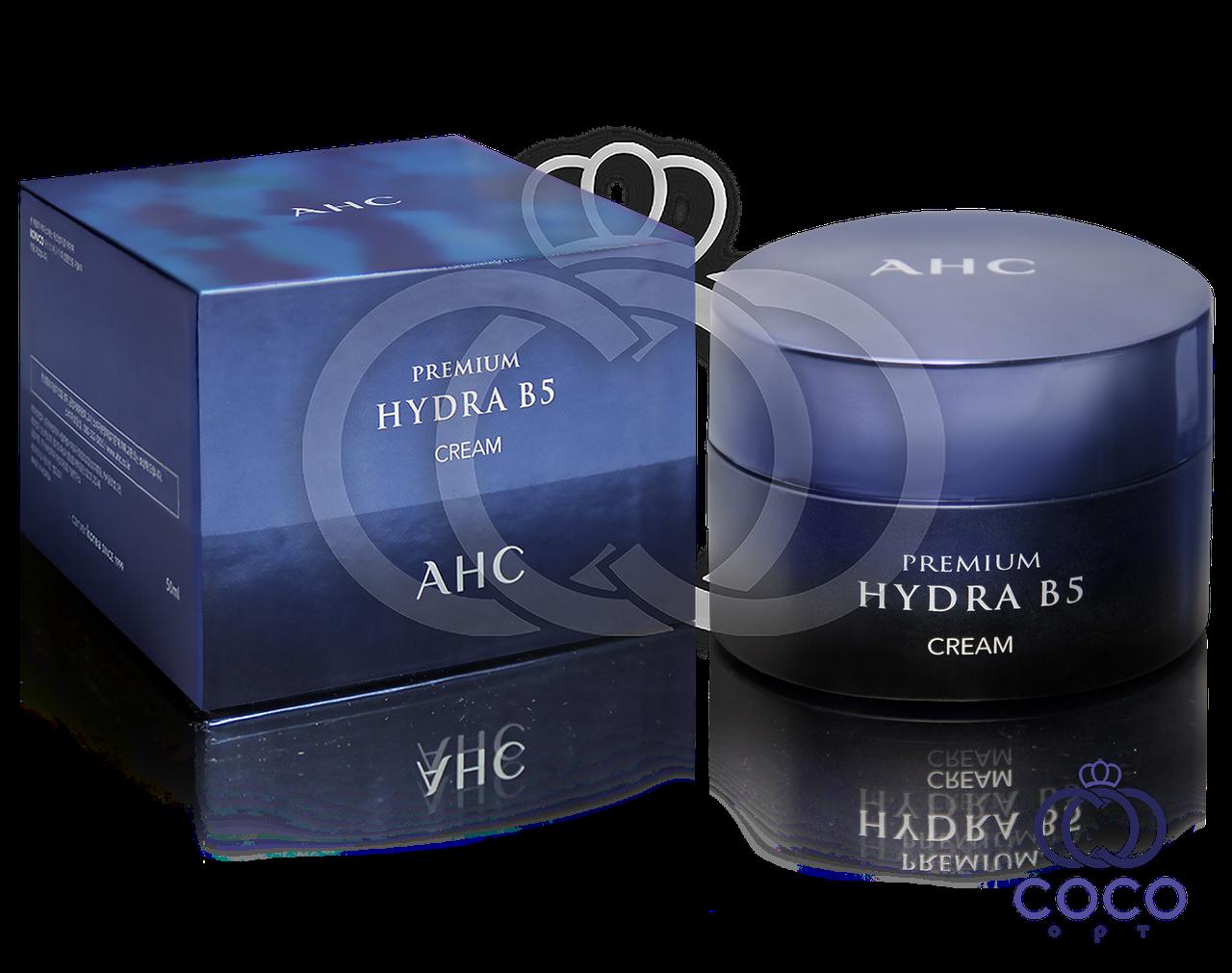Корейский увлажняющий и успокаивающий крем премиум-класса с витамином В5 AHC Premium Hydra B5 Cream