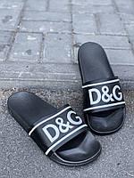 Шлепки D&G обувь на лето сланцы тапки босоножки брендовая копия реплика