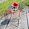 Паук готический Королева тьмы 72см с черепом (оранжевый) 09953