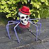 Паук готический Королева тьмы 72см с черепом (фиолетовый) 09951