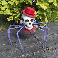 Паук череп Королева тьмы 72см (фиолетовый) 09951, фото 1