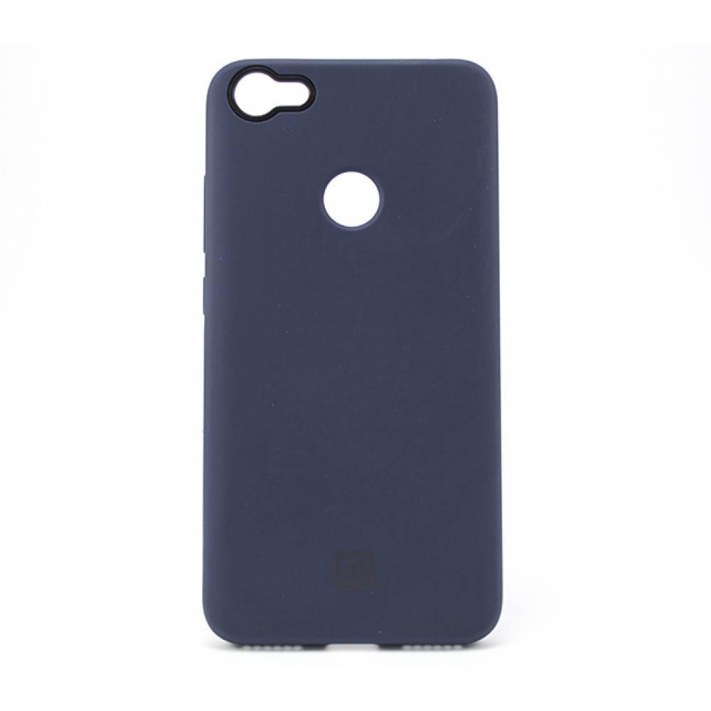 Силиконовый чехол Silicone Case Xiaomi Redmi Note 5A Prime (Синий)