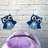 Антенки на обідку Сова (блакитні)